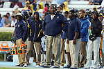 12 September 2015: NC A&T head coach Rod Broadway. The University of North Carolina Tar Heels hosted the North Carolina A&T State University Aggies at Kenan Memorial Stadium in Chapel Hill, North Carolina in a 2015 NCAA Division I College Football game.