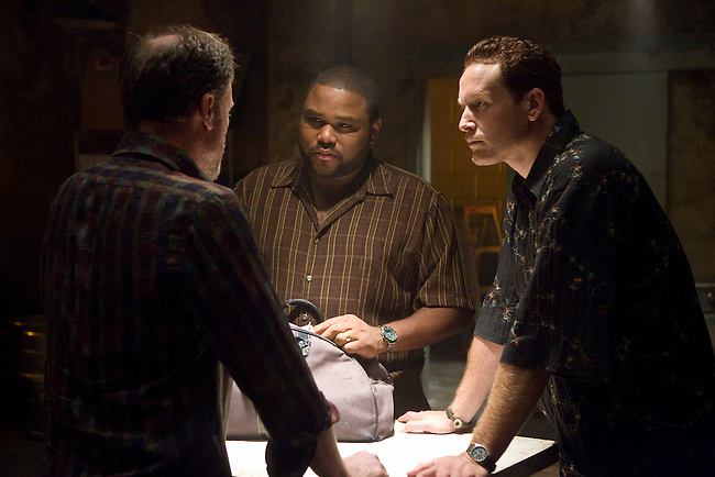 Anthony Anderson as Marlin Boulet and Cole Hauser as Trevor Cobb in Fox Television's 'K-Ville' - a police drama set in New Orleans after Hurricane Katrina.