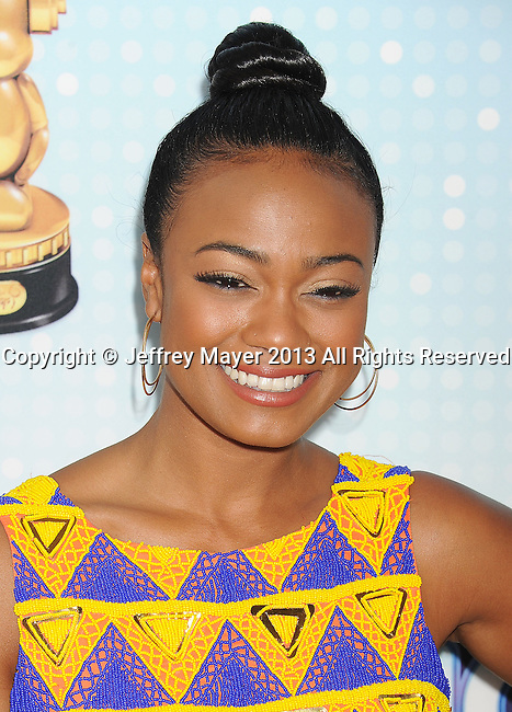 LOS ANGELES, CA- APRIL 27: Actress Tatyana Ali arrives at the 2013 Radio Disney Music Awards at Nokia Theatre L.A. Live on April 27, 2013 in Los Angeles, California.