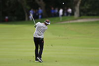 Joost Luiten (NED) plays his 2nd shot on the 1st hole during Saturday's rain delayed Round 2 of the Andalucia Valderrama Masters 2018 hosted by the Sergio Foundation, held at Real Golf de Valderrama, Sotogrande, San Roque, Spain. 20th October 2018.<br /> Picture: Eoin Clarke | Golffile<br /> <br /> <br /> All photos usage must carry mandatory copyright credit (&copy; Golffile | Eoin Clarke)