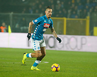 Marek Hamsik of Napoli  during the  italian serie a soccer match,Atalanta - SSC Napoli at  the Atleti azure d'italia   stadium in Bergamo Italy , December 03, 2018