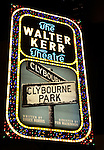 Theatre Marquee for the Broadway Opening Night Performance Curtain Call for 'Clybourne Park' at the Walter Kerr Theatre in New York City on 4/19/2012