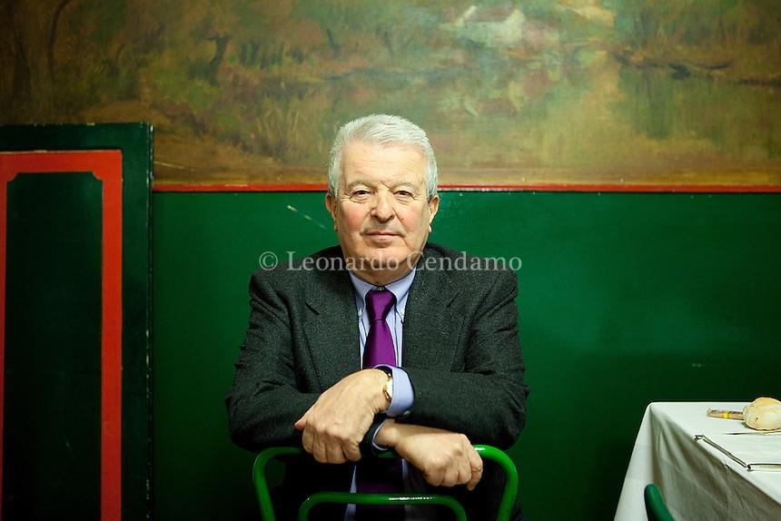 Gennaio 2010, Milan, Italy, Corrado Stajano, giornalista, writer, premio bagutta.  © Leonardo Cendamo