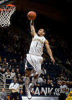 Justin Cobbs of California prepares to dunk the ball during the game against CSUB at Haas Pavilion in Berkeley, California on November 11th, 2012.  California defeated CSUB, 78-65.