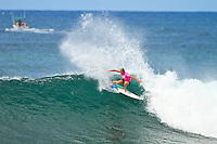 Stephanie Gilmore (AUS).   Haleiwa Hawaii, (Tuesday November 16, 2010) .Haleiwa Ali'i Beach Park  turned on 3' surf for the second day of the 2010 Vans Triple Crown of Surfing.  The Round one and two of the women's Cholos Women's Hawaiian Pro was completed today, along with the second of three heats of four of professional surfing all-time world champions in the REEF Clash of the Legends: Tom Curren (USA), Tom Carroll (Australia), Sunny Garcia (Hawaii), and Mark Occhilupo (Australia). ..Photo: joliphotos.com