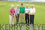 COMPETITION: Taking part in the Pat Mulcaire Cup Tournament at Tralee Golf Club on Saturday were from left, Tadgh McMahon, Joe McGarry, Eugene OCallaghan (Starter), John Murphy and Sean OSullivan (all from Tralee)..