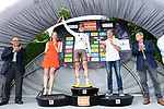 Pierre-Roger Latour (FRA) AG2R La Mondiale takes over the young riders white jersey at the end of Stage 3 of the Criterium du Dauphine 2017, running 184km from Chambon-sur-Lignon to Tullins, France. 6th June 2017. <br /> Picture: ASO/A.Broadway | Cyclefile<br /> <br /> <br /> All photos usage must carry mandatory copyright credit (&copy; Cyclefile | ASO/A.Broadway)
