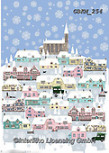 Kate, CHRISTMAS LANDSCAPES, WEIHNACHTEN WINTERLANDSCHAFTEN, NAVIDAD PAISAJES DE INVIERNO, paintings+++++Country village in the snow,GBKM254,#XL#