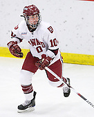 Anna McDonald (Harvard - 10) - The Harvard University Crimson defeated the Northeastern University Huskies 1-0 to win the 2010 Beanpot on Tuesday, February 9, 2010, at the Bright Hockey Center in Cambridge, Massachusetts.