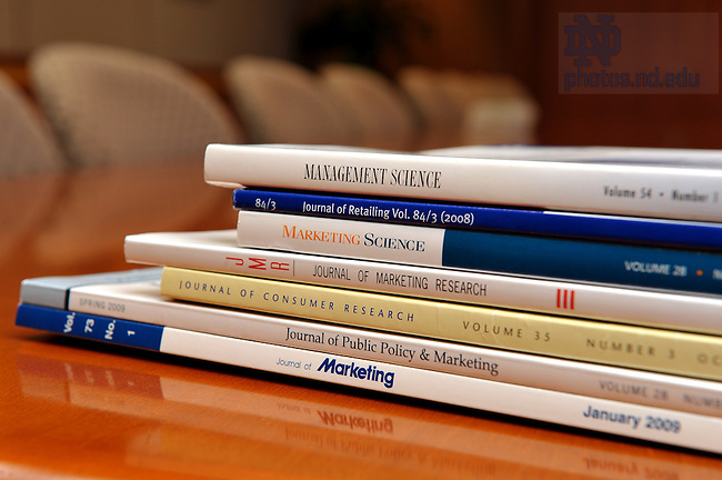 Academic and trade journals in which Mendoza College of Business faculty members have been published...Photo by Matt Cashore/University of Notre Dame