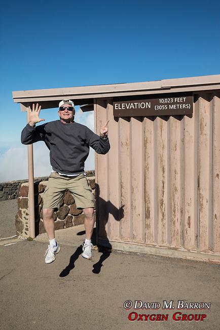 Adam Ames At Haleakala Jumping 2 feet!