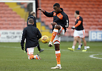 Blackpool's Donervon Daniels during the pre-match warm-up <br /> <br /> Photographer Rich Linley/CameraSport<br /> <br /> The EFL Sky Bet League One - Blackpool v Barnsley - Saturday 22nd December 2018 - Bloomfield Road - Blackpool<br /> <br /> World Copyright &copy; 2018 CameraSport. All rights reserved. 43 Linden Ave. Countesthorpe. Leicester. England. LE8 5PG - Tel: +44 (0) 116 277 4147 - admin@camerasport.com - www.camerasport.com