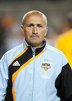 Houston Dynamo head coach Dominic Kinnear  during the regular season game between the Los Angeles Galaxy and the Houston Dynamo at Robertson Stadium in Houston, TX on April 10, 2010. Los Angeles 2, Houston 0.