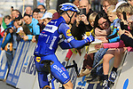 Iljo Keisse (BEL) Deceuninck-Quick Step at the team presentation in Antwerp before the start of the 2019 Ronde Van Vlaanderen 270km from Antwerp to Oudenaarde, Belgium. 7th April 2019.<br /> Picture: Eoin Clarke | Cyclefile<br /> <br /> All photos usage must carry mandatory copyright credit (&copy; Cyclefile | Eoin Clarke)