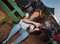 05-08-13, Netherlands, Dordrecht,  TV Desh, Tennis, NJK, National Junior Tennis Championships, Official Opening Ceremony, Babette Pluim<br /> <br /> <br /> Photo: Henk Koster