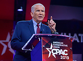 Lieutenant Colonel Oliver North, United States Marine Corps (retired), President, National Rifle Association (NRA) speaks at the Conservative Political Action Conference (CPAC) at the Gaylord National Resort and Convention Center in National Harbor, Maryland on Thursday, February 28, 2019.<br /> Credit: Ron Sachs / CNP