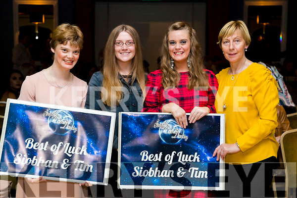 Lydia Keane, Hazel Keane, Emily Keane and Tina Dineen at the John Mitchels GAA 'Strictly Come Dancing' at Ballygarry House Hotel on Sunday night.