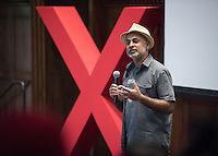 Professor Sanjeev Khagram. Occidental College's second TEDx event, Choi Auditorium, April 2, 2016. Featuring talks on sustainability and global development by speakers that included five students, a faculty member and seven external speakers.<br />