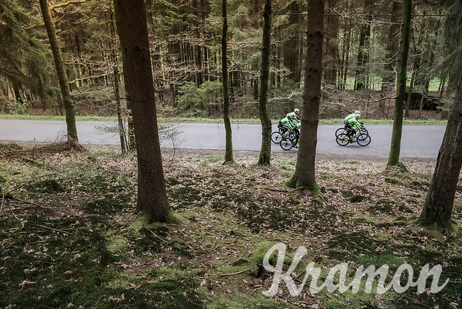 Team Cannondale-Drapac at the Liège-Bastogne-Liège 2017 recon
