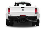 Straight rear view of 2016 Ram Ram-3500-Pickup Tradesman-Regular-cab 4 Door Pick-up Rear View  stock images