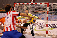 25.03.2012 MADRID, SPAIN -  EHF Champions League match played between BM At. Madrid vs Kadetten Schaffhausen (26-30) at Palacio Vistalegre stadium. the picture show Arunas Vaskevicius (Kadetten Schaffhausen player)
