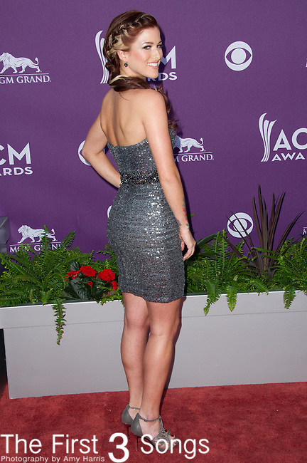 Cassadee Pope attends the 48th Annual Academy of Country Music Awards in Las Vegas, Nevada on April 7, 2012.