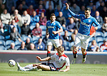 Craig Sibbald tackles Haris Vuckic