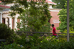 Heading to the graduate school.   Photo by Kevin Bain/Ole Miss Communications