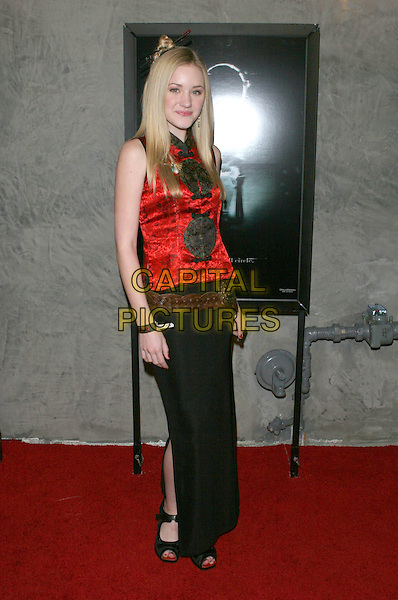 AMANDA MICHALKA.The The Ring Two Special Screening Party held at the Geisha Housel,  Hollywood, California.March 8th, 2005.Photo Credit: Jacqui Wong/AdMedia.full length black skirt red top sleeveless.www.capitalpictures.com.sales@capitalpictures.com.© Capital Pictures.