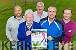 Danny Doona, Mike O'Neill, Brendan Ferris, John McEnery and James Collins who have an organised a Golfing for Cancer in association with Trashing Cancer which will be held in Beaufort Golf club on Saturday 24th September