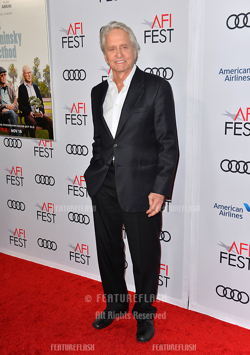 LOS ANGELES, CA. November 10, 2018: Michael Douglas at the AFI Fest 2018 world premiere of &quot;The Kominsky Method&quot; at the TCL Chinese Theatre.<br /> Picture: Paul Smith/Featureflash