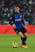 9th December 2017, Allianz Stadium, Turin, Italy; Serie A football, Juventus versus Inter Milan; Matias Vecino on the ball