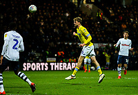 Leeds United's Patrick Bamford heads his side's second goal<br /> <br /> Photographer Alex Dodd/CameraSport<br /> <br /> The EFL Sky Bet Championship - Preston North End v Leeds United -Tuesday 9th April 2019 - Deepdale Stadium - Preston<br /> <br /> World Copyright &copy; 2019 CameraSport. All rights reserved. 43 Linden Ave. Countesthorpe. Leicester. England. LE8 5PG - Tel: +44 (0) 116 277 4147 - admin@camerasport.com - www.camerasport.com