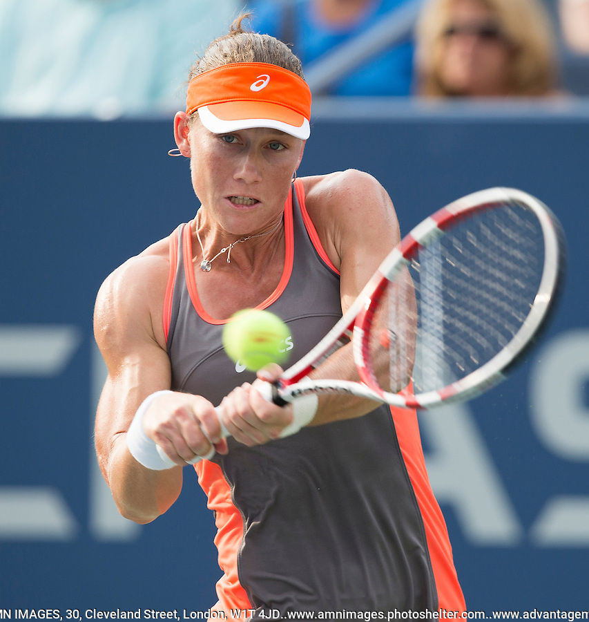 Samantha Stosur..Tennis - US Open - Grand Slam -  New York 2012 -  Flushing Meadows - New York - USA - Sunday 2nd September  2012. .© AMN Images, 30, Cleveland Street, London, W1T 4JD.Tel - +44 20 7907 6387.mfrey@advantagemedianet.com.www.amnimages.photoshelter.com.www.advantagemedianet.com.www.tennishead.net