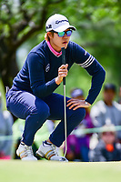 Eun Jeong Seong (KOR) lines up her putt on 1 during round 4 of  the Volunteers of America Texas Shootout Presented by JTBC, at the Las Colinas Country Club in Irving, Texas, USA. 4/30/2017.<br /> Picture: Golffile | Ken Murray<br /> <br /> <br /> All photo usage must carry mandatory copyright credit (&copy; Golffile | Ken Murray)