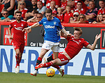 05.08.18 Aberdeen v Rangers: Jon Flanagan tackled by Chris Forrester