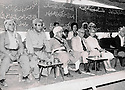 Iraq 1970 .Nawpurdan: 8th  congress of KDP, second left to right, Nouri Shawess, Mustafa Barzani, Kamuran Bedir Khan and his wife Natacha.<br />