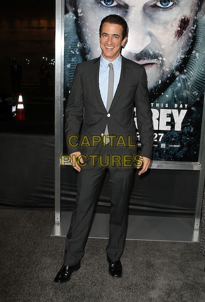 "Dermot Mulroney .The World Premiere Of ""The Grey"" Held At The Regal cinemas, Los Angeles, California, USA..January 11th, 2012.full length grey gray suit blue shirt.CAP/ADM/KB.©Kevan Brooks/AdMedia/Capital Pictures."