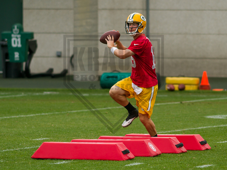 GREEN BAY - June 2015: Green Bay Packers quarterback Scott Tolzien (16) during a minicamp practice on June 18th, 2015 at Clarke Hinkle Field in Green Bay, Wisconsin. (Brad Krause/Krause Sports Photography)
