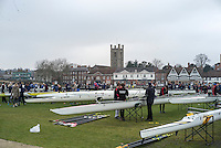 Henley. United Kingdom.  General View, looking towards the Henley Town,  left,  the tower of St Mary the Virgin, Churh,Henley Fours &amp; Eights Henley Head,, River Thames. H-O-T, England.<br /> <br /> Saturday  18/02/2017<br /> <br /> [Mandatory Credit. Peter SPURRIER/Intersport Images]