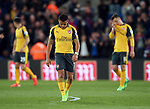 Arsenal's Alexis Sanchez looks on dejected after going behind during the Premier League match at Selhurst Park Stadium, London. Picture date: April 10th, 2017. Pic credit should read: David Klein/Sportimage