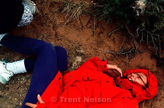 Laura Nelson after a fall on the Slickrock Bike Trail. &amp;#xA;<br />