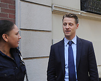 www.acepixs.com<br /> <br /> September 29 2017, New York City<br /> <br /> Actor Ben McKenzie chatted with NYPD officers on the set of the TV series 'Gotham' on September 29 2017 in New York City<br /> <br /> By Line: William Jewell/ACE Pictures<br /> <br /> <br /> ACE Pictures Inc<br /> Tel: 6467670430<br /> Email: info@acepixs.com<br /> www.acepixs.com