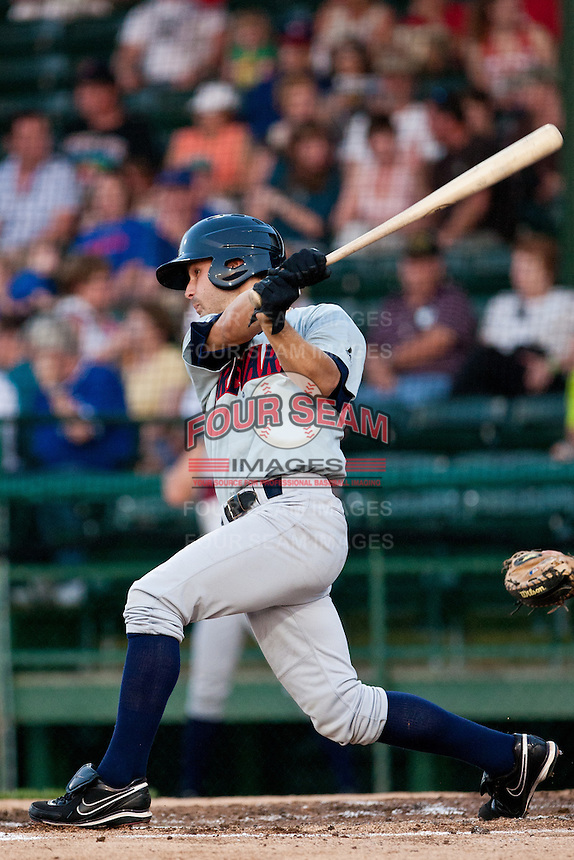 Second Baseman Shea Vucinich #2 of the Brevard County Manatees gets a hit during the game against the Daytona Beach Cubs at Jackie Robinson Ballpark on April 9, 2011 in Daytona Beach, Florida. Photo by Scott Jontes / Four Seam Images