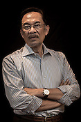 Opposition leader, Dato Seri Anwar Ibrahim poses for a portrait in his office in Kuala Lumpur, Malaysia, on Tuesday, May 14, 2013.