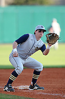 Third baseman Greg Sherry #15 of the Notre Dame Fighting Irish during the Big East-Big Ten Challenge vs. the Purdue Boilermakers at Al Lang Field in St. Petersburg, Florida;  February 19, 2011.  Notre Dame defeated Purdue 19-2.  Photo By Mike Janes/Four Seam Images