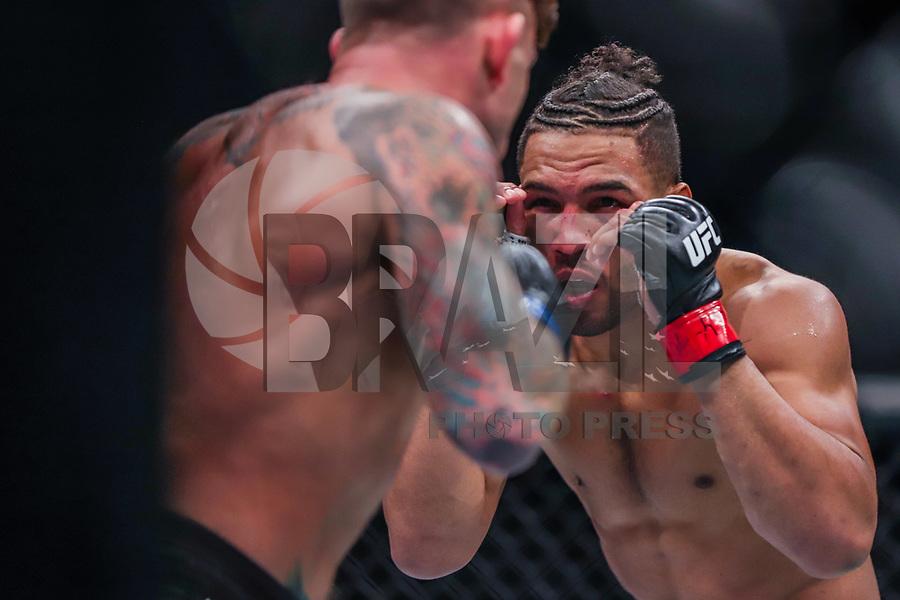 NOVA YORK, EUA, 02.11.2019 - UFC-NOVA YORK - Kevin Lee (vermelho) e Gregor Gillespie (azul) durante UFC 244 no Madison Square Garden na cidade de Nova York neste sábado, 02. (Foto: Vanessa Carvalho/Brazil Photo Press/Folhapress)