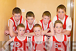 BLITZ: Castleisland Boys National School who played Currow NS in the District NS Boys Senior A final at the St Mary's basketball blitz in Castleisland Community Centre on Sunday were front l-r: Jack Cooney, Colm Murphy and Bernard Nolan. Back l-r: Cian O'Connor, Darragh O'Connor, Daniel Kearney and Garrett O'Connell.   Copyright Kerry's Eye 2008