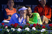 Maria Sharapova and Grigos Dimitrov during the match of the Charity day previus at Madrid Open Tenis 2017in  Madrid, Spain. May 04, 2017. (ALTERPHOTOS/Rodrigo Jimenez) /NORTEPHOTO.COM