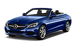 2017 Mercedes Benz C-Class - 2 Door Convertible Angular Front stock photos of front three quarter view